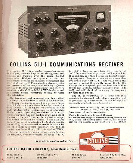 TUBE  KIT  FOR  COLLINS  51J-4